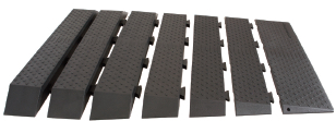 "Modular Rubber Threshold Ramp 1"" - 4"" Rise"